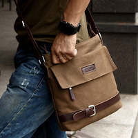 Man bag 2013 Men's  Cotton Canvas  Business Shoulder Bag Male Casual  Messenger  Hand Bags JS0002Factory Price