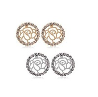 Free shipping Hot sales  Fashion jewelry Elegant flower pattern retro earring 4203-38