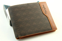 Men's Brown leather Classi Wallet/purse ID Credit Card Holder Bifold Money Clip