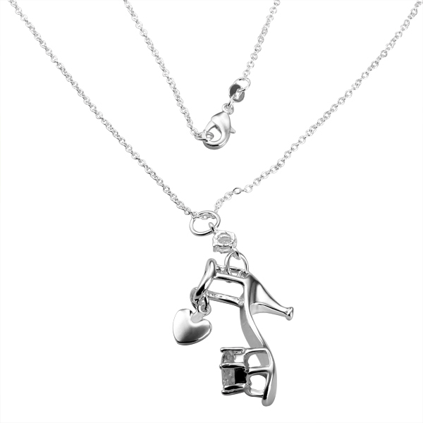 925 Necklace - PBN030 / high-heeled shoes necklace ,Free shipping ,925 sterling silver chain necklace for men ,high quality(China (Mainland))
