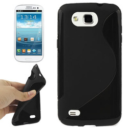 Novel S Line TPU Case for Samsung Galaxy Primier/i9260 (Black) Free Shipping(China (Mainland))