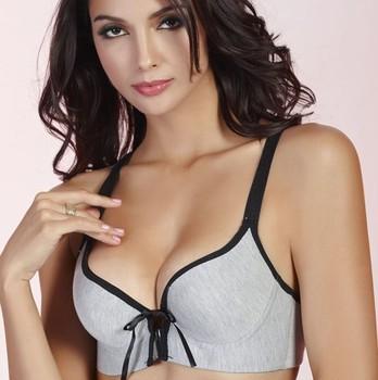 Free ship sports bra sexy lady underwear fashion brassiere cotton leisure soft padded underwear