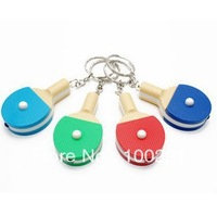 FREE SHIPPING !Creative gifts table tennis keyholder with lamp table tennis pat with lamp hang toys gifts wholesale