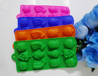 1pcs fruit type Muffin Sweet Candy Jelly Ice Silicone Mould Mold Baking Pan Tray Mak