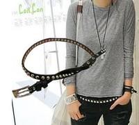 Vogue Rivet Embellished Thin Belt YL10082323