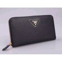 Free Postage HOT SALE 2013 fashion brand purse unisex genuine leather wallet first layer of cowhide  leather wallet