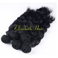 Free Shipping Natural Wave 4pcs10in-34in100% Virgin Brazilian Human Hair Extension Can Mix Length Natural Color
