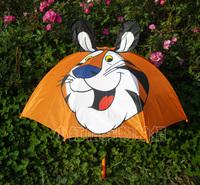 Free Shipping Wholesale Cartoon children umbrella   tiger  -Free shopping