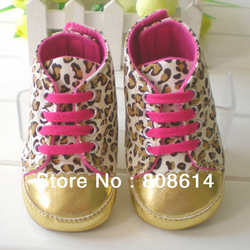 Pratical Brand New Soft Sole Baby Girl Toddler Infant Leopard Crib Shoes. Age 3-18 Months Free Shipping(China (Mainland))