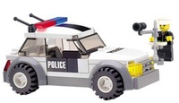 Free shipping ! KAZI 69pcs/set DIYTraffic Police Educational Plastic Toy Building Block Set 6731 For Children,