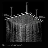 Water Pressure Powered Light Up Shower Head,Ceiling Shower Rain