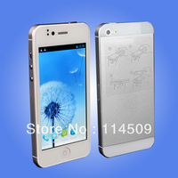 New 5I MTK6577 Dual Core Android 4.0 Smartphone 5I Dual Sim Android Cell Phones Unlocked WiFi GPS Phone