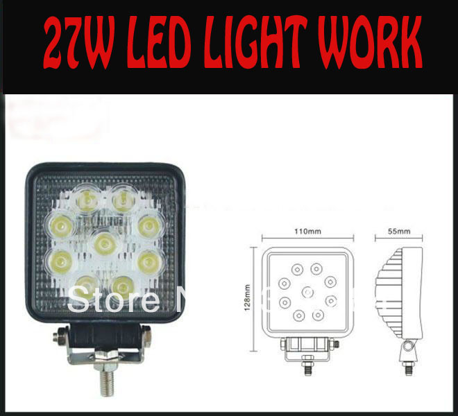 27W high power led work light for 4X4 Offroad ,Tractor,Truck(China (Mainland))