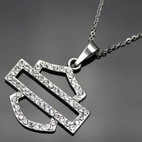 Free Shipping! 5pcs/lot  Zinc Alloy crystal stainless steel Chain motor bike Necklace ( Include the stainless steel Chain )
