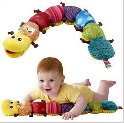 Toy Musical Instrument Musical Inchworm Plush Soft Toys Educational Baby Toys for Baby Drop Shipping T111(China (Mainland))