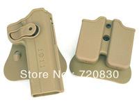 IMI Style Colt 1911 RH Pistol & Magazine Paddle Holster Tan