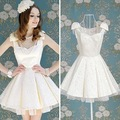 S-XL free shipping manufacturers supply sexy Women's fashion white vest ball gown dress (MOQ: 1pc)