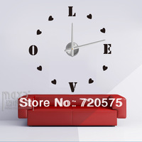 Modern Frameless Large Wall Clock DIY Your Own Style Interior Design MAX3 12S0011  freeshipping