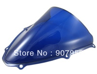 Hot ! Blue Motorcycle Windshield Windscreen Double Bubble For Suzu Ki GSX-R GSXR 600 750 K6 06-07