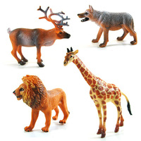 Plastic animal toy artificial animal jungle animal model boxed lion