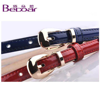 Women's thin all-match belt female candy color fashion ol small strap Women