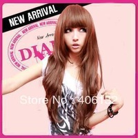 Scroll fluffy fashion female high temperature wire repair wig bangs qi 2981,supper long,overlong wig