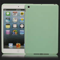 Hot Sale! Light Green Slim PU Back Cover Case Skin House Protector For Ipad Mini, Free & Drop Shipping