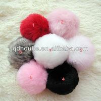 Free shipping  Faux rabbit fur ball fake fur ball cheap fur ball keychain Fashion bag accessory
