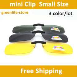 3pcs/lot Brown/Black Lens Polarized Day Vision Clip On Glasses Yellow Lens For Night Driving Eyeglass Clips On Sunglasses(China (Mainland))