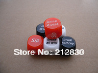 Novelty Erotic Sex ludo drink Dice Toy friend Game Gift Pub bar die Party Adult Hen gambling colored(Min.Order is$10,mixed batch