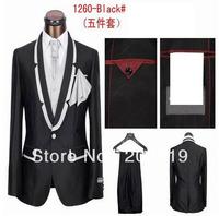 супер slim fit 1 кнопка вечерний костюм мужчин shinning черный шерсть дешево фабрика Цена костюмы