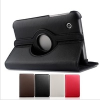 "Free Shipping  Mini 7"" Tablet PC stand 360 rotating leather case for Samsung P3100 P3113 Galaxy Tab 7.0"