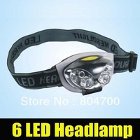 free shipping!Ultra Bright 6 LED Head Light Lamp Torch Headlight Headlamp with 3 Modes bnz