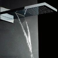 Stainless Steel Hydropowered Rainfall Shower Heads,Bath Shower,Overhead Shower