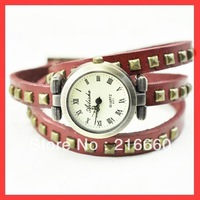fashion new arrival genuine leather wrap watch for ladies