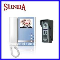 Wholesale for 4 inch color video door phone, video intercom, video door bell, door entry system with wire cable