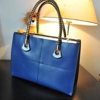 Free shipping 2013 fashion shoulder bag elegant shaping women's Genuine Leather handbag OL outfit commercial handbags