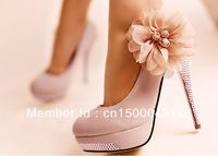 2013 new fashion women's high heels   European and American fashion shoes  Flower wedding shoes Free shipping