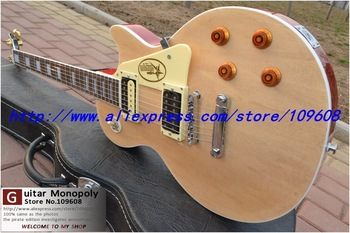 Wholesale - Custom Shop Natural cream Custom Electric Guitar star pickguard Top Musical instruments