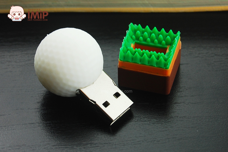 Free Shipping Wholesale Golf Model Cheap Enough 1GB 2GB 4GB 8GB 16GB 32GB 64GB USB 2.0 Flash Drive Festival Gift(China (Mainland))