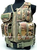 Deluxe Airsoft Tactical Combat Mesh Vest Multi Camo