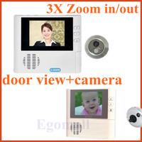 """3 X Zoom 2.8"""" Digital Video Door Viewer Doorbell Camera LCD Display For Door Access Security"""