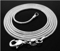"""FREE SHIPPING! Wholesale 20pcs 925 sterling silver 1.2mm snake chain 26"""",28"""",30"""",32"""" , (can choose the length)"""
