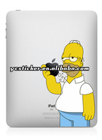 Free Shipping Creative Color Sticker Simpson Stickers Decals for iPad 2 Sticker Decal for iPad Mini Decal Sticker