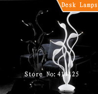 Free shipping swan desk lamp ,6 lights,Dia 500mm* H 700mm