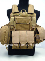 Molle Combat Strike Plate Carrier CIRAS Vest Coyote Brown