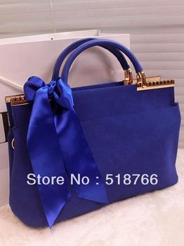 2013 New Fashion Matte Leather Shoulder Bag Handbag Vintage Women Designer Bowknot Small Messenger Bag Free Shipping