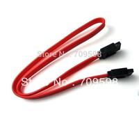Free Shipping 10pcs Serial SATA Data Cable Hard Disk Drive HD Data Cable 40cm SATA SERIAL SATA  DATA  HARD DRIVE CABLE