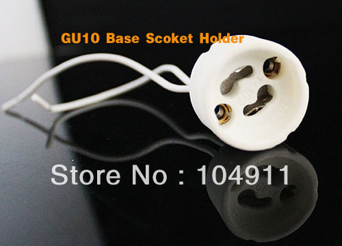 DHL free shipping GU10 Base Socket Lamp holder LED Light Bulbs Lamps New Regulation Ceramic Mains Holder Wire Connector 300pcs(China (Mainland))