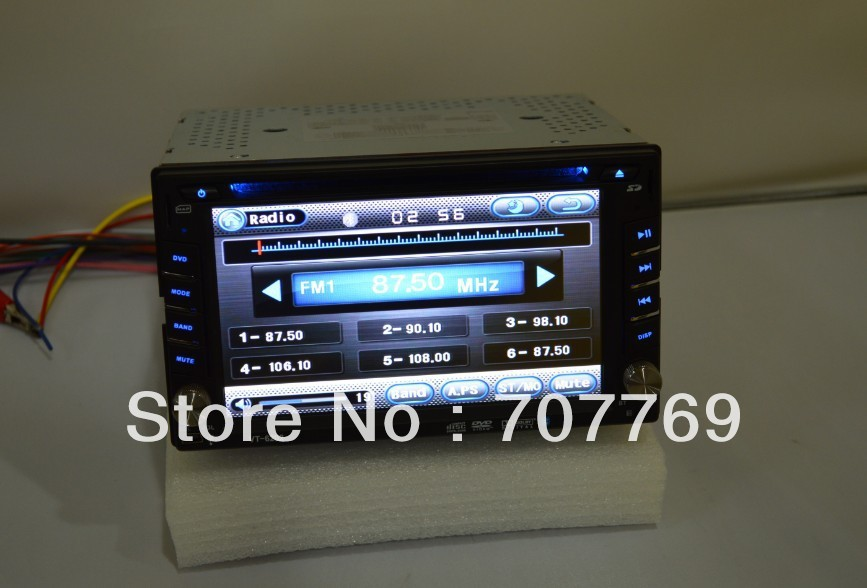Factory price universal double din car dvd player with Russian language(China (Mainland))